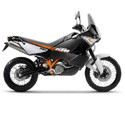 04-12 KTM 990 Adventure R Cox Racing Aluminum Motorcycle Radiator Guards
